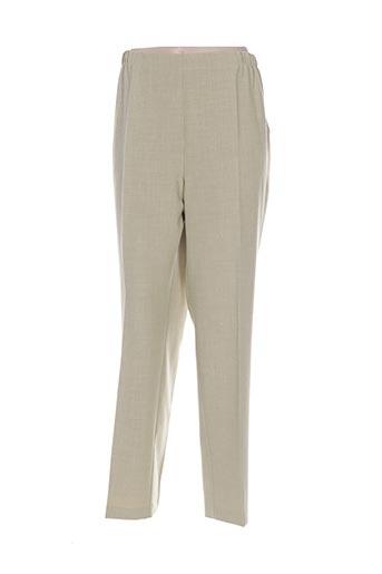 maryvet pantalons femme de couleur vert