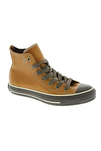 converse chaussures unisexe de couleur marron