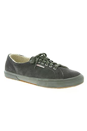 superga chaussures garçon de couleur gris