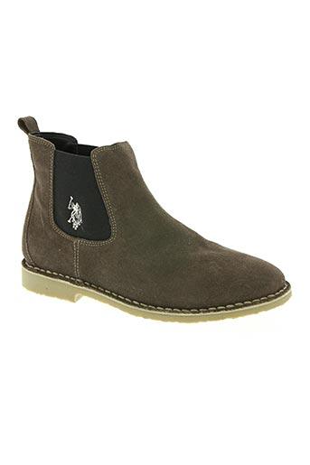 u.s. polo assn chaussures homme de couleur gris