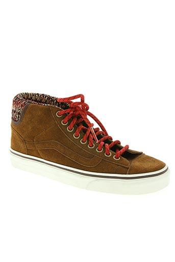 vans chaussures homme de couleur marron
