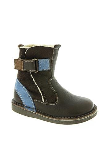 Bottines/Boots marron KICKERS pour garçon