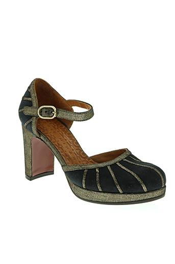 chie mihara chaussures femme de couleur bleu