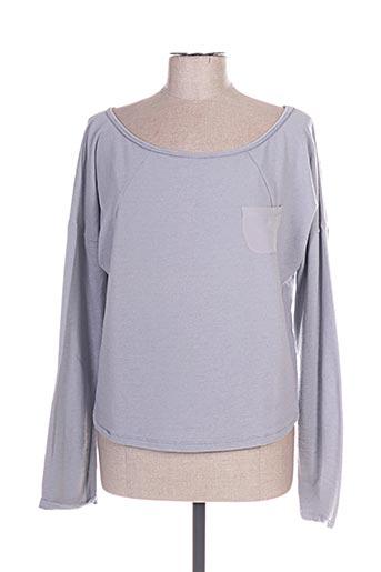 Sweat-shirt gris HUMANOID pour femme