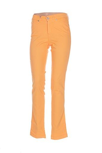 dismero pantalons femme de couleur orange