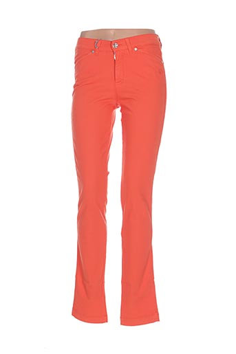 Jeans coupe slim orange DISMERO pour femme