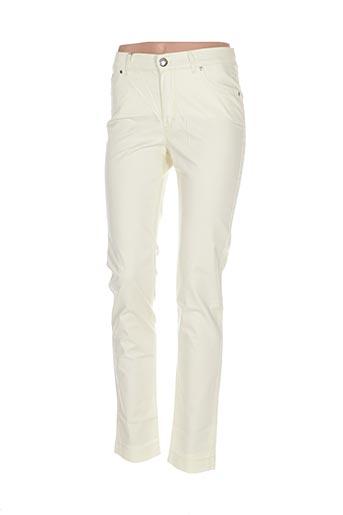 Pantalon casual jaune DISMERO pour femme