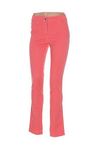 Pantalon casual rose DISMERO pour femme