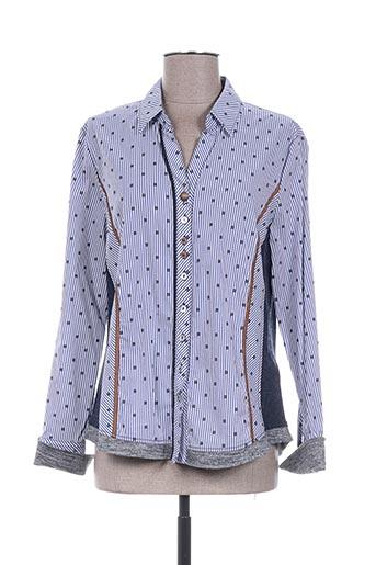 just white chemises femme de couleur bleu