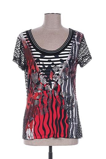 eroke t-shirts femme de couleur rouge