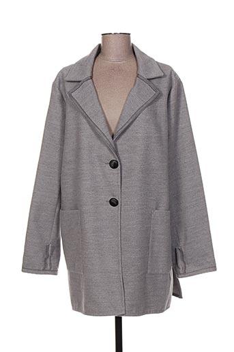 franck anna manteaux femme de couleur gris