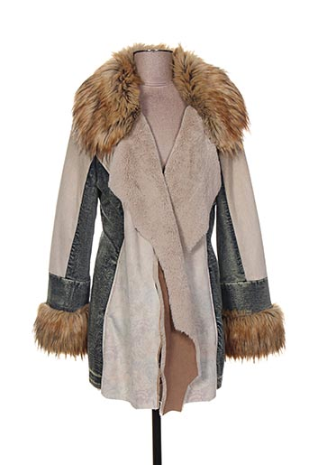 daniela dallavalle manteaux femme de couleur beige