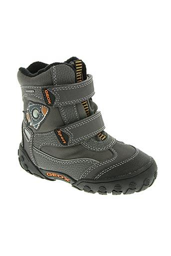 geox chaussures garçon de couleur gris