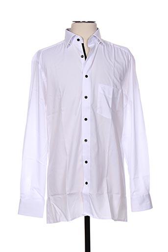 olymp chemises homme de couleur blanc