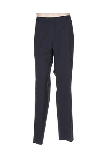 bruno saint hilaire pantalons homme de couleur bleu
