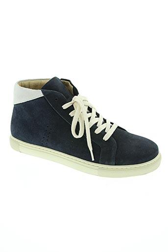 m.moustache chaussures homme de couleur bleu