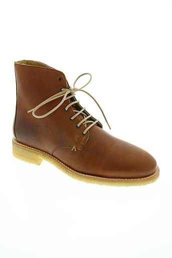 m.moustache chaussures homme de couleur marron
