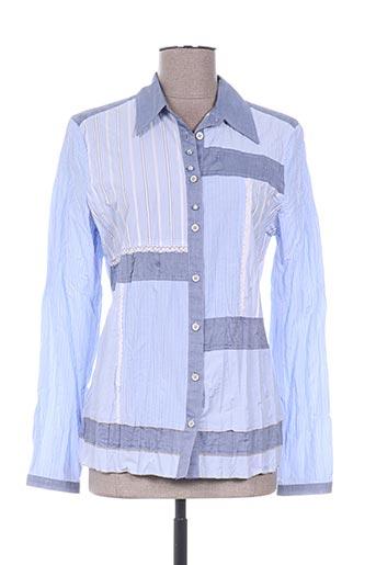 erfo chemises femme de couleur bleu