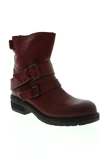 vic chaussures femme de couleur rouge
