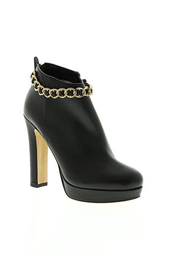 gaia d'este chaussures femme de couleur noir