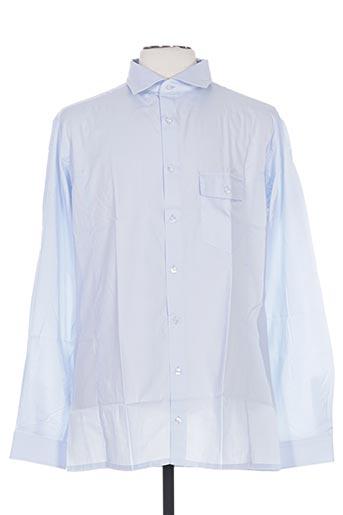 Chemise manches longues bleu FAIRPLAY pour homme
