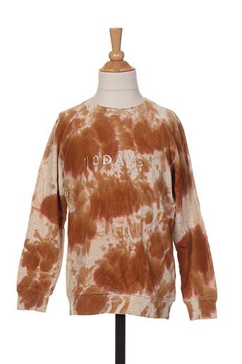 Sweat-shirt marron 10 DAYS pour enfant