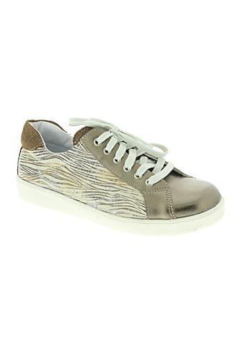 minibel chaussures fille de couleur beige