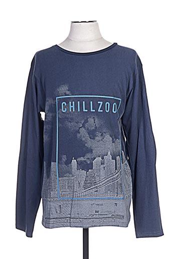 chillaround t-shirts garçon de couleur bleu