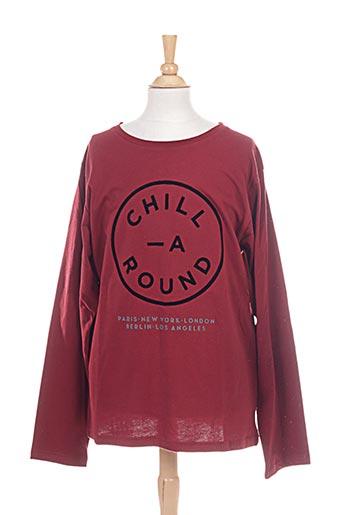 chillaround t-shirts garçon de couleur rouge