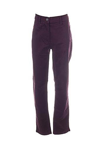 Pantalon casual violet BETTY BARCLAY pour femme