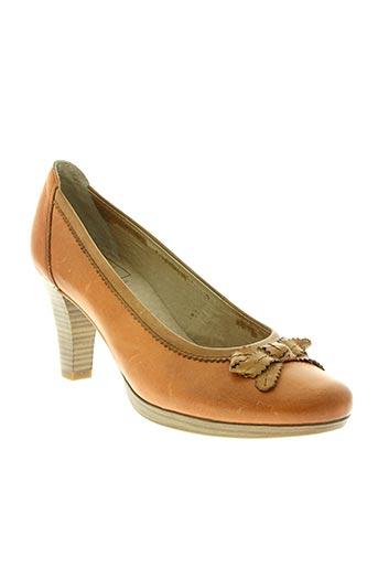 caprice chaussures femme de couleur orange