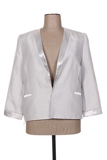 parisiennes vestes femme de couleur gris