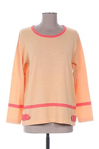 eleane pulls femme de couleur orange