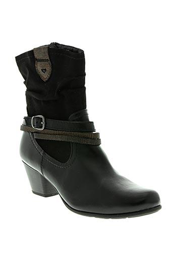 soft line chaussures femme de couleur noir