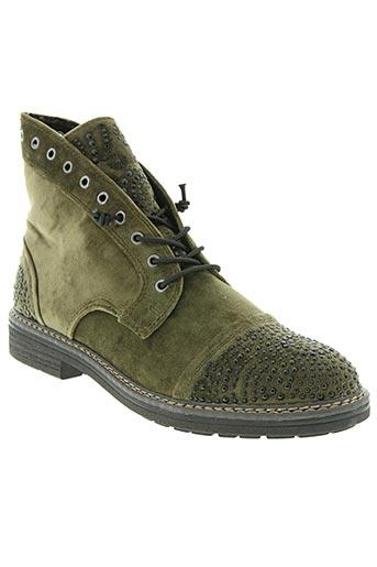 marco tozzi chaussures femme de couleur vert