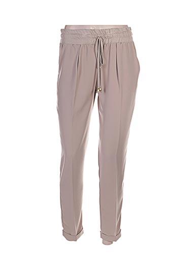 Pantalon casual beige EMA BLUE'S pour femme