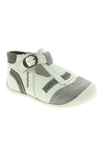 babybotte chaussures garçon de couleur blanc