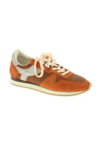 tbs chaussures femme de couleur orange