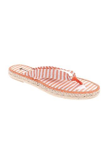 espanillas chaussures femme de couleur orange