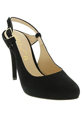 unisa chaussures femme de couleur noir