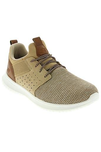 skechers chaussures homme de couleur beige