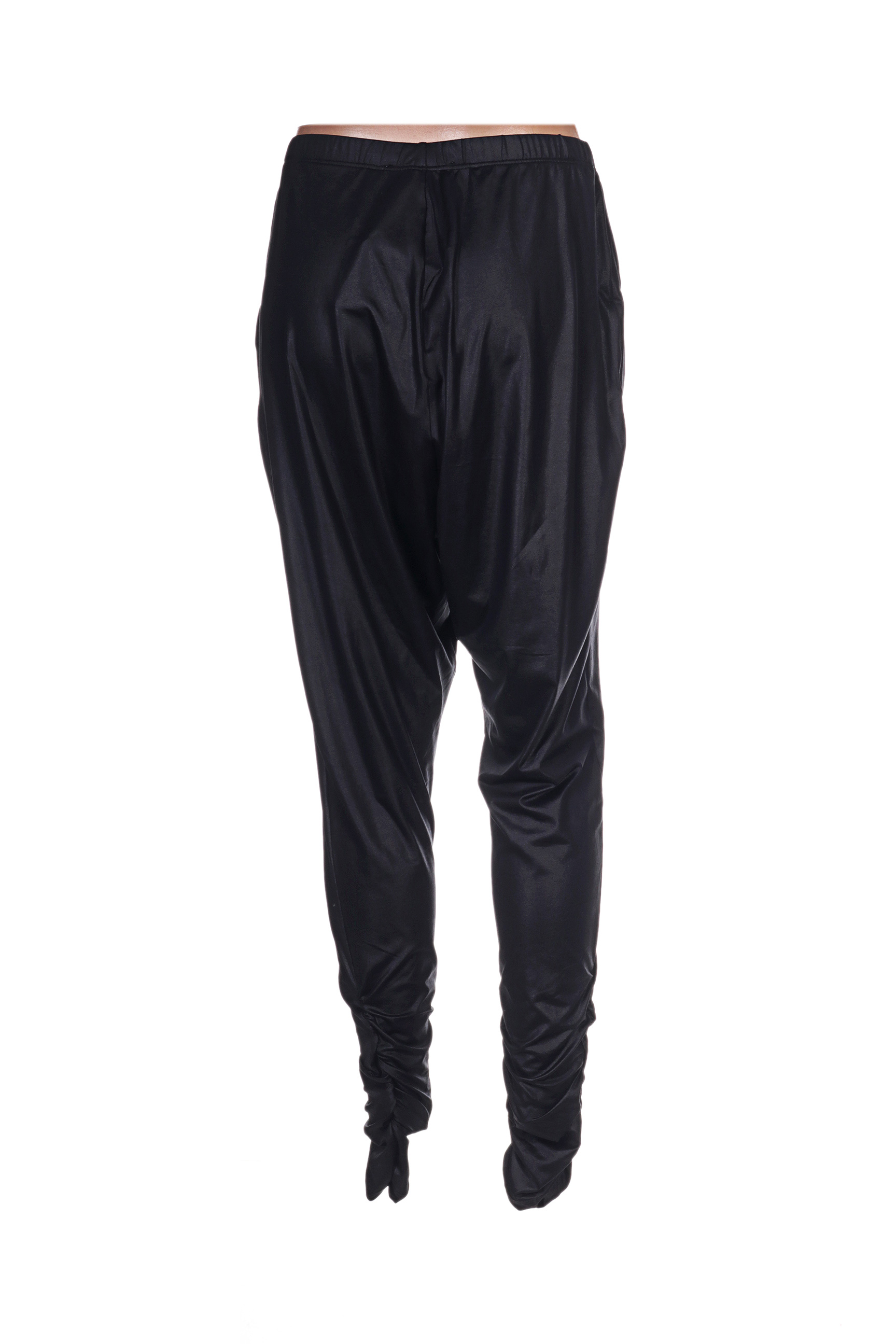 Nu Pantalons Decontractes Femme De Couleur Noir En Soldes Pas Cher 1254837-noir00