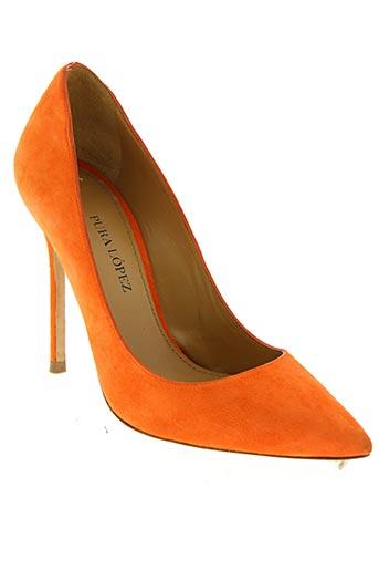pura lopez chaussures femme de couleur orange