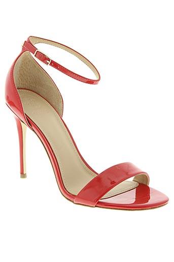 guess chaussures femme de couleur rouge