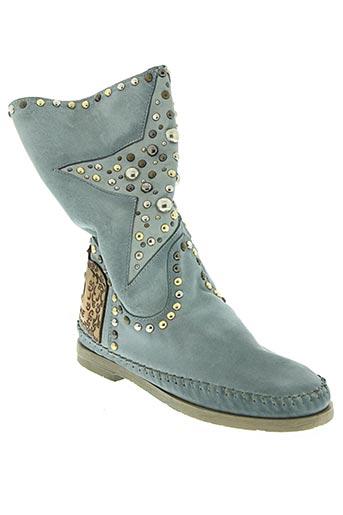 karma of charme chaussures femme de couleur bleu