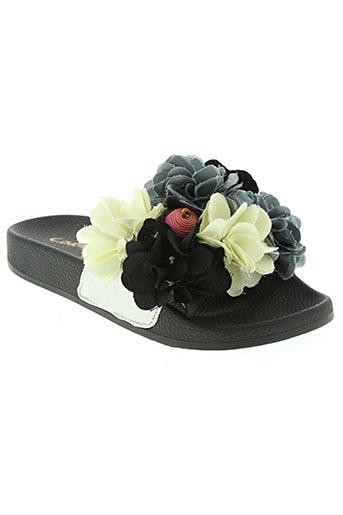 coral blue chaussures femme de couleur noir