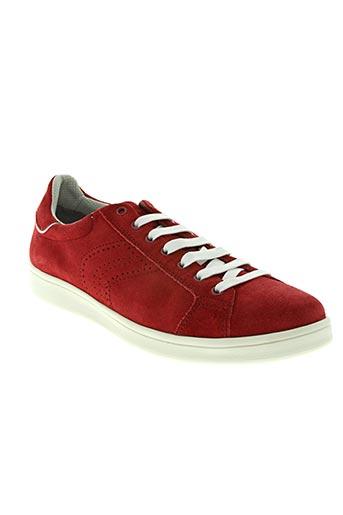 geox chaussures homme de couleur rouge