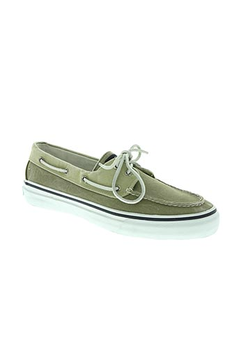 sperry top-sider chaussures homme de couleur vert