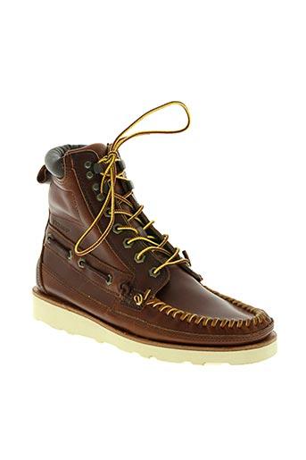 sebago chaussures homme de couleur marron