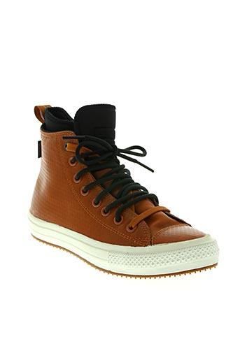 converse chaussures homme de couleur marron